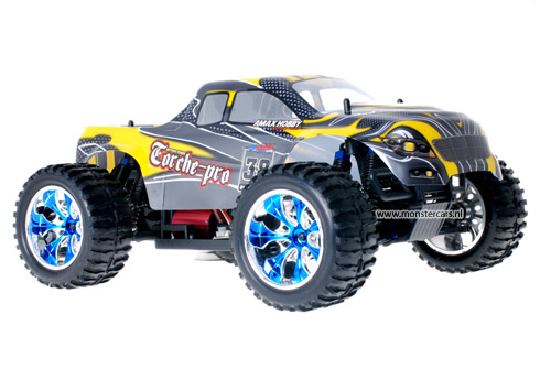 Himoto Brushless Truck Yellow Carbon 2.4GHz AANBIEDING!